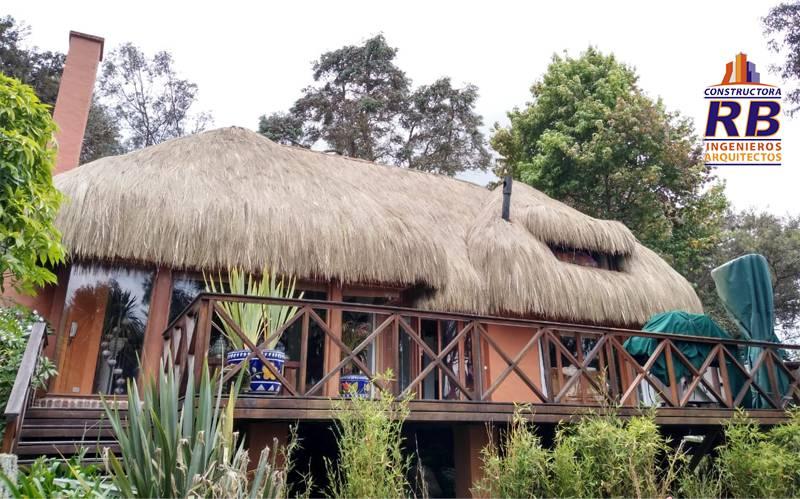 Proyecto ejecutado instalación techo en paja para casa campestre en Guasca Cundinamarca Colombia
